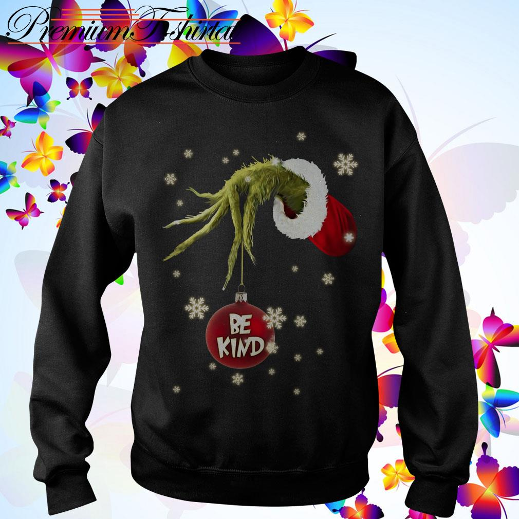 Be kind Grinch hand holding Christmas Sweater