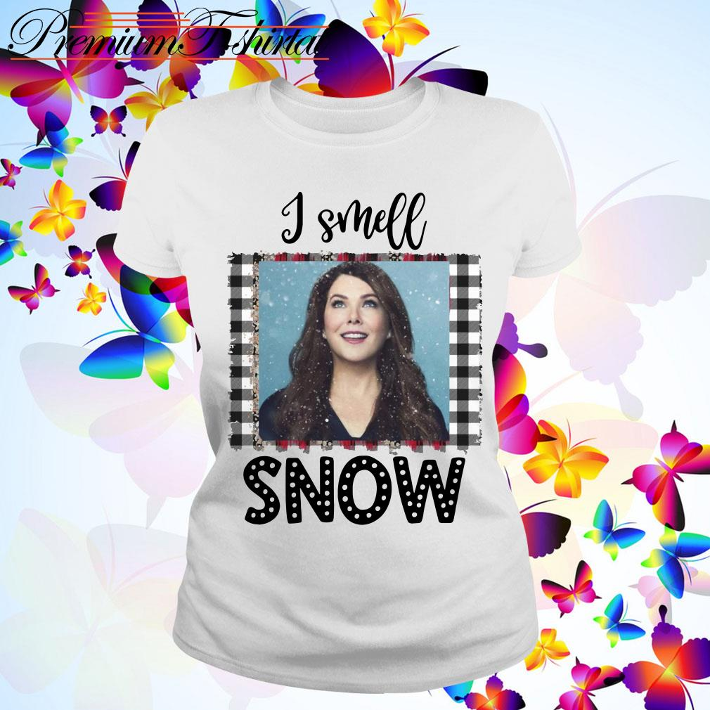 Christmas Gilmore Girls Lorelai I smell snow Ladies Tee