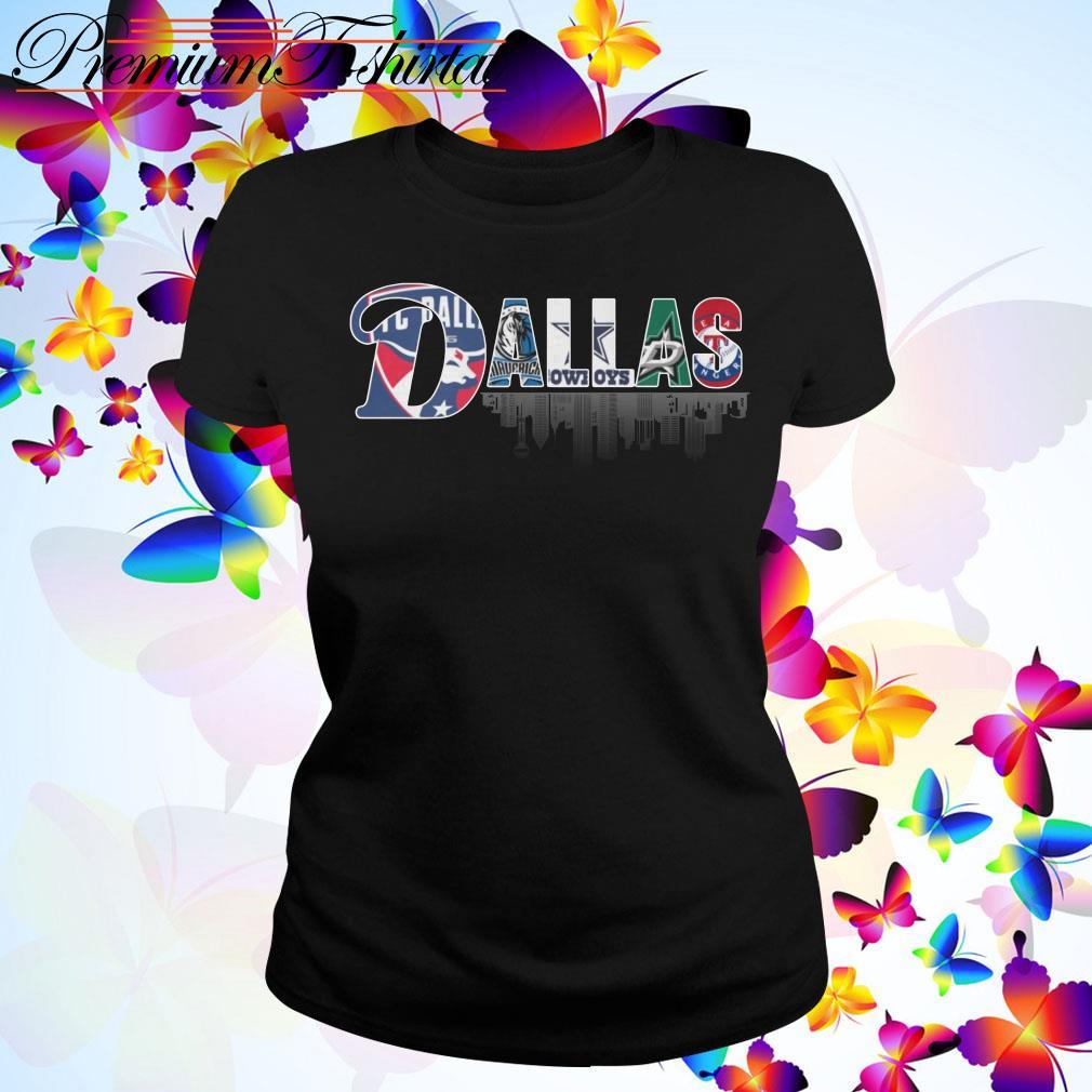 Dallas Team Sports FC Dallas Mavericks Cowboys Stars Rangers Ladies Tee