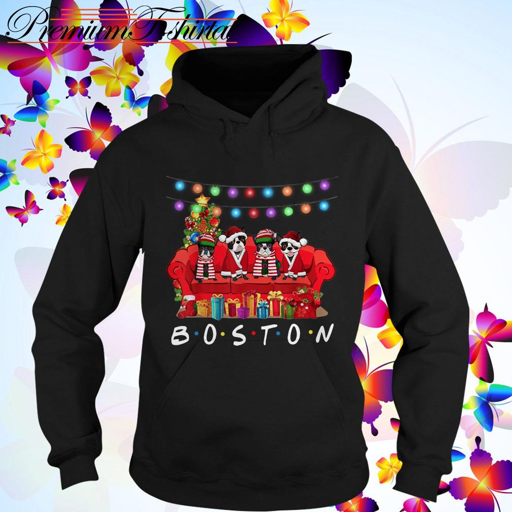 French Bulldog Boston Christmas Hoodie