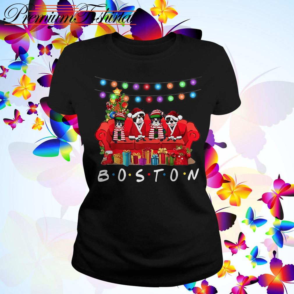 French Bulldog Boston Christmas Ladies Tee
