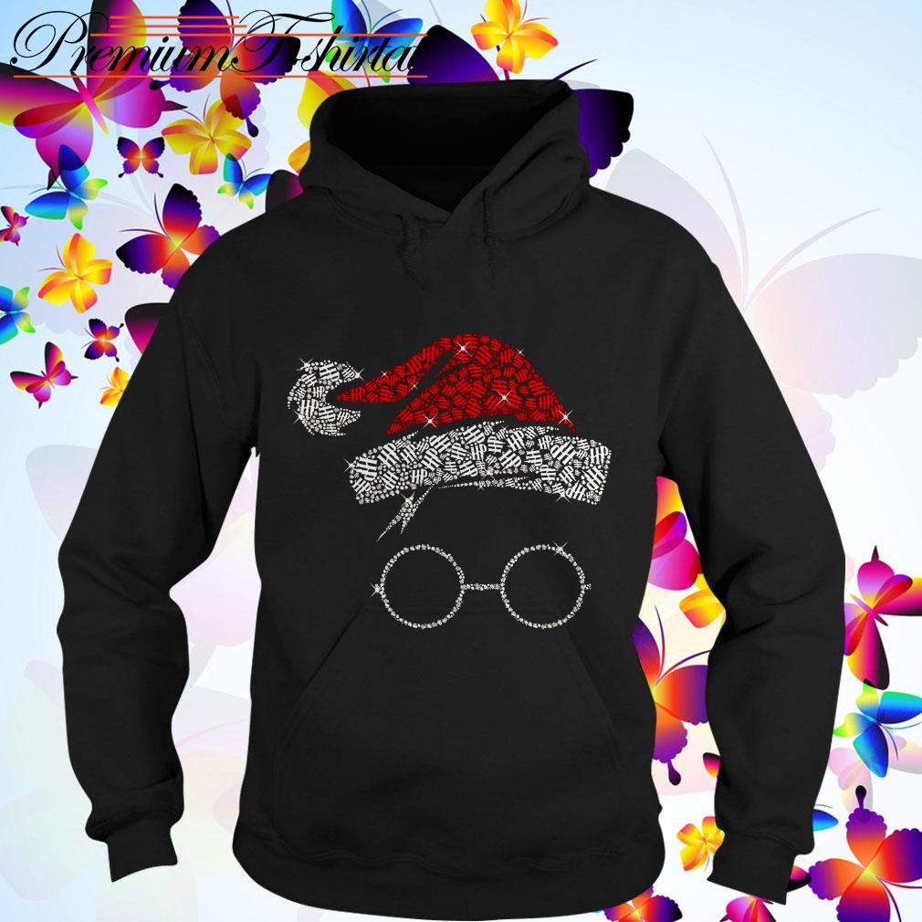 Harry Potter Santa Hat And Glass Christmas Hoodie