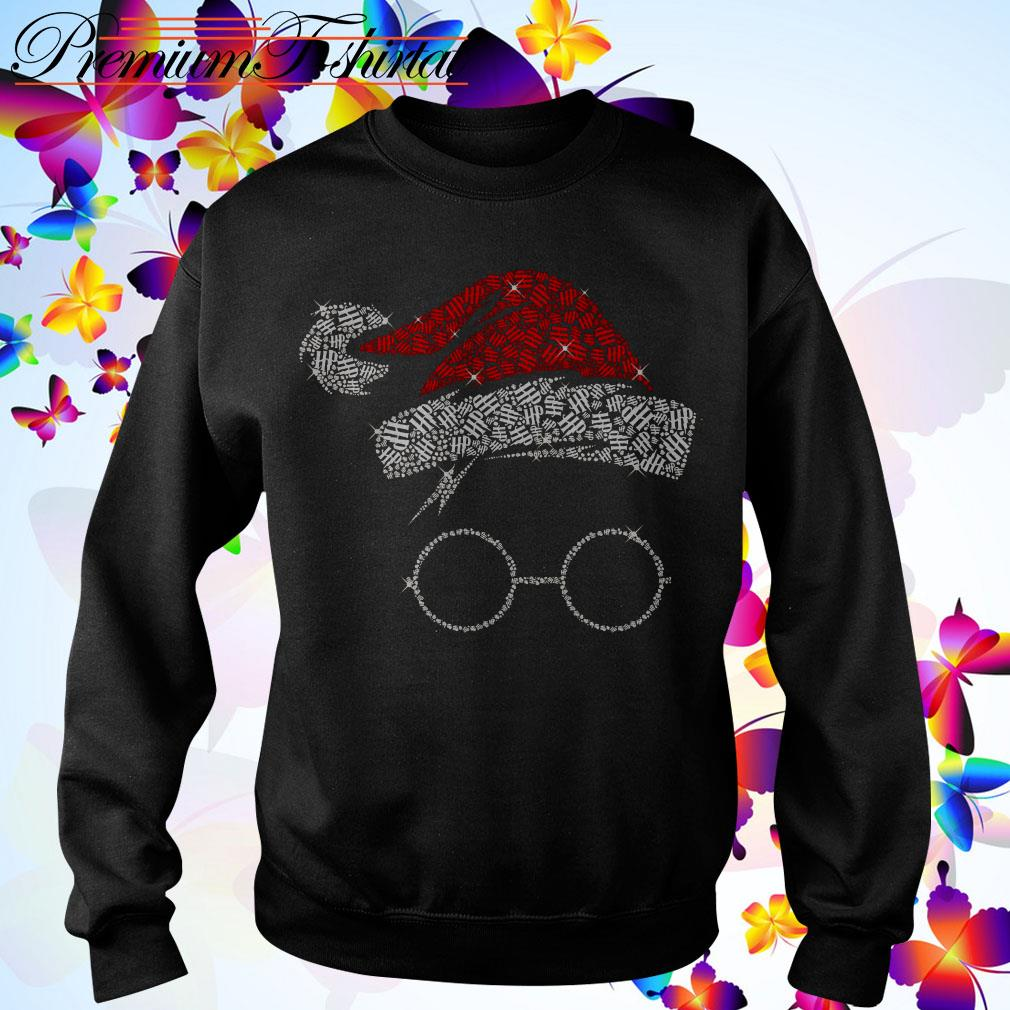 Harry Potter Santa Hat And Glass Christmas shirt, sweater