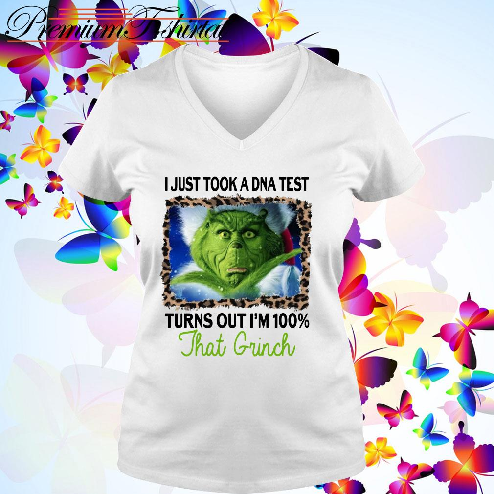 I just a DNA test turns out I'm 100% that Grinch Christmas V-neck T-shirt