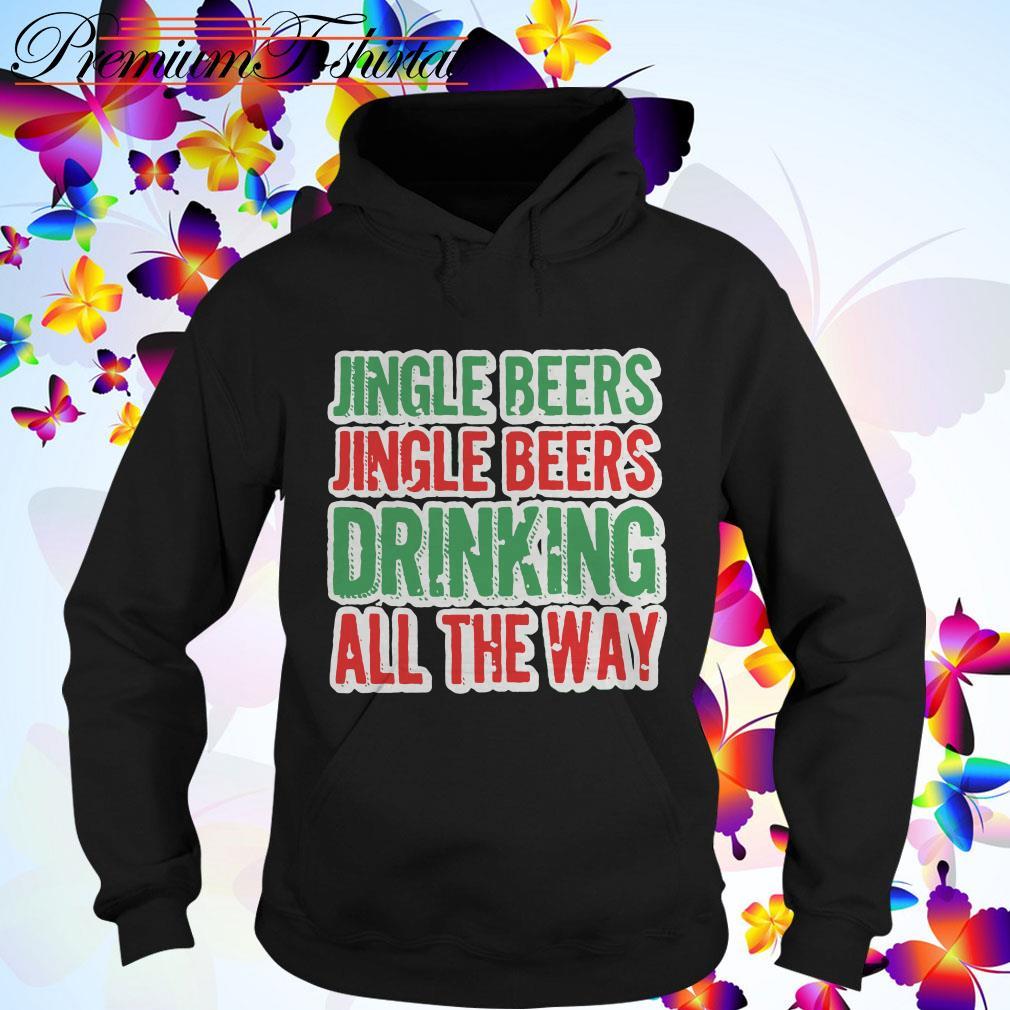 Jingle beers Jingle beers drinking all the way Christmas Hoodie