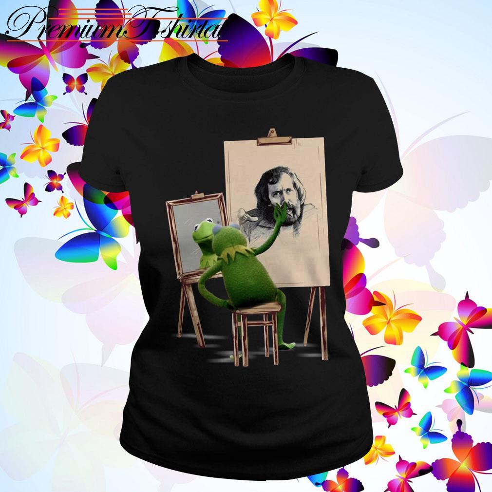 Kermit The Frog painting Jim Henson Ladies Tee