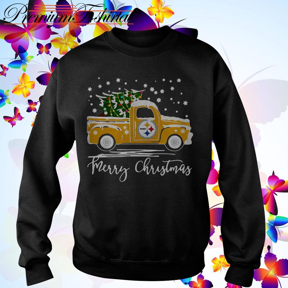 Pittsburgh Steelers pickup truck Merry Christmas shirt, sweater