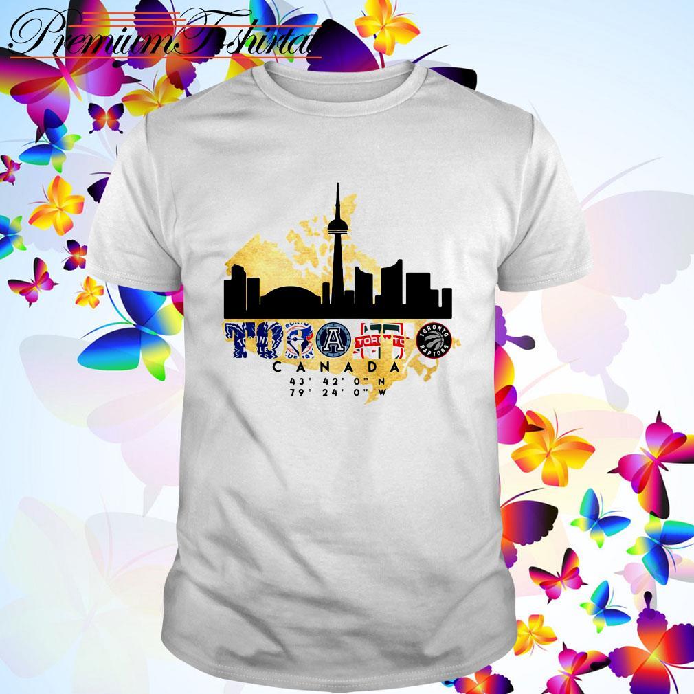 Toronto City Canada 43'32n 79'24W logo team sports shirt