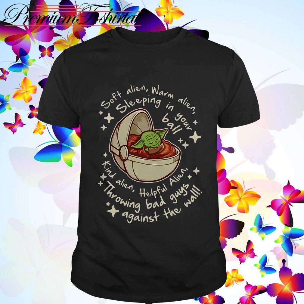 Baby Yoda soft alien warm alien sleeping in your ball shirt