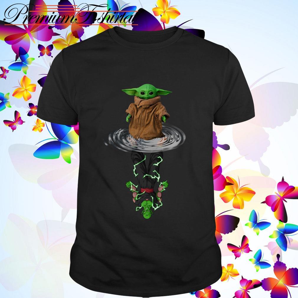Baby Yoda water reflection Piccolo shirt