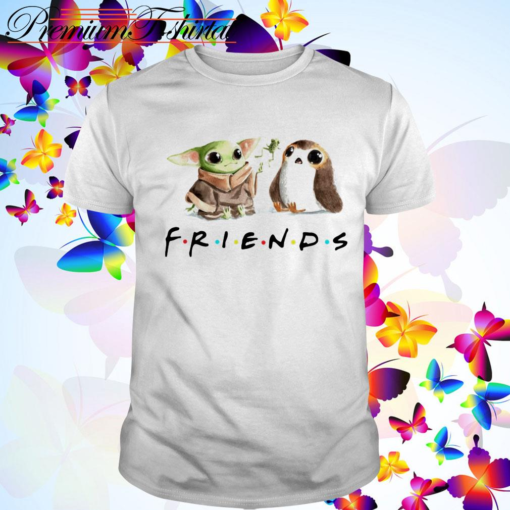 Best friends Baby Yoda Frog and Porg shirt