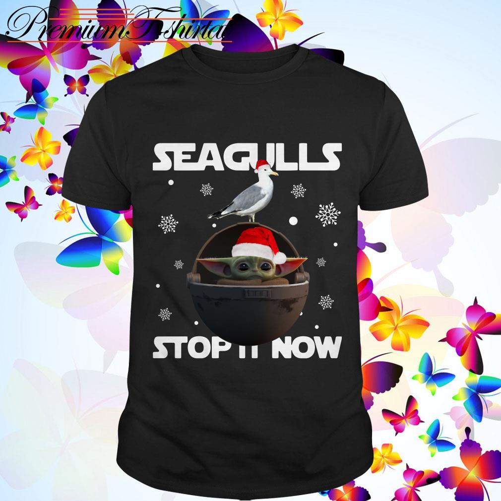 Christmas Star Wars Baby Yoda Seagulls stop it now shirt, sweater