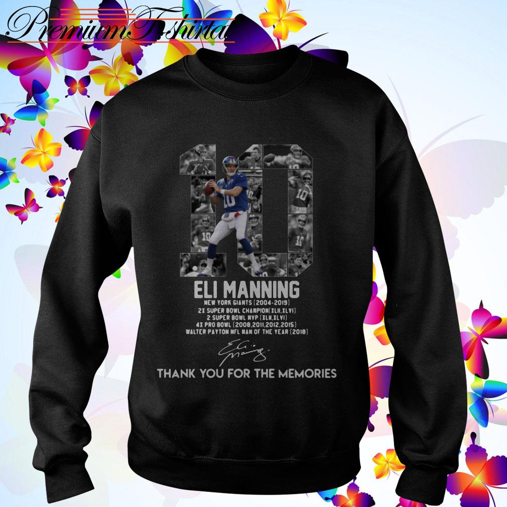 Eli Manning 10 thank You for the Memories signature Sweater