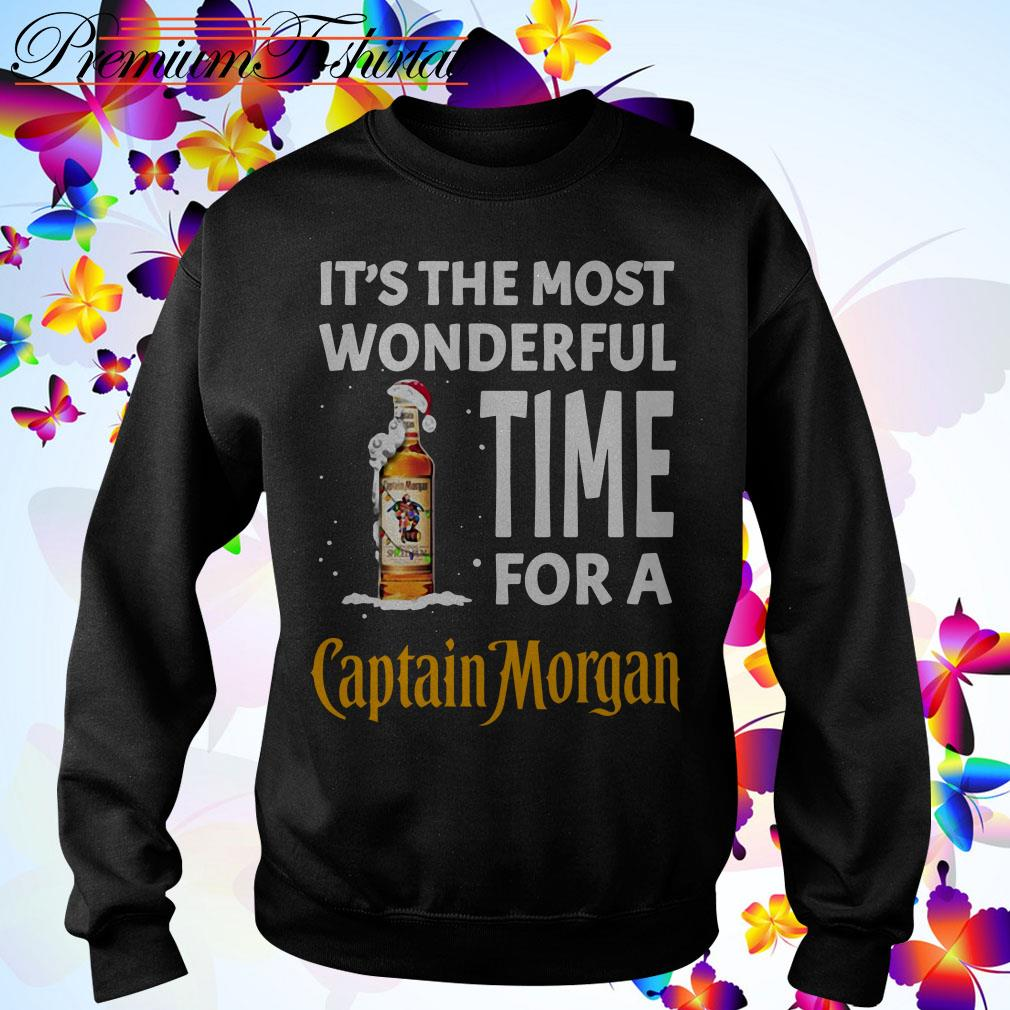 It's the most wonderful time for a Captain Morgan Santa Christmas shirt, sweater