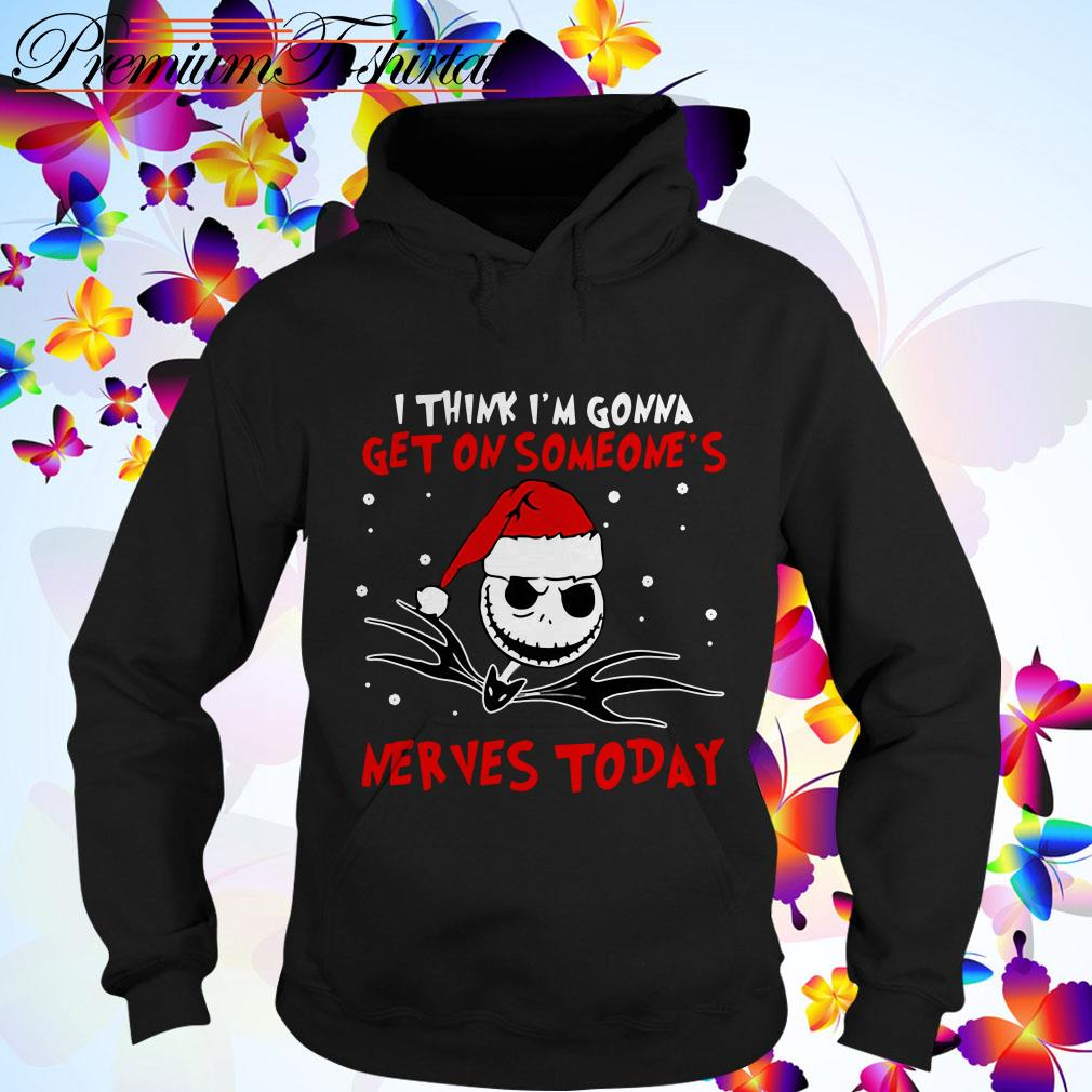 Jack Skellington Santa I think I'm gonna get on someone's nevers today Christmas Hoodie