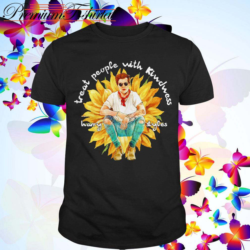 Clickbuypro Unisex Tshirt Treat People With Kindness Harry Styles Sunflower Shirt T-shirt White 5xl