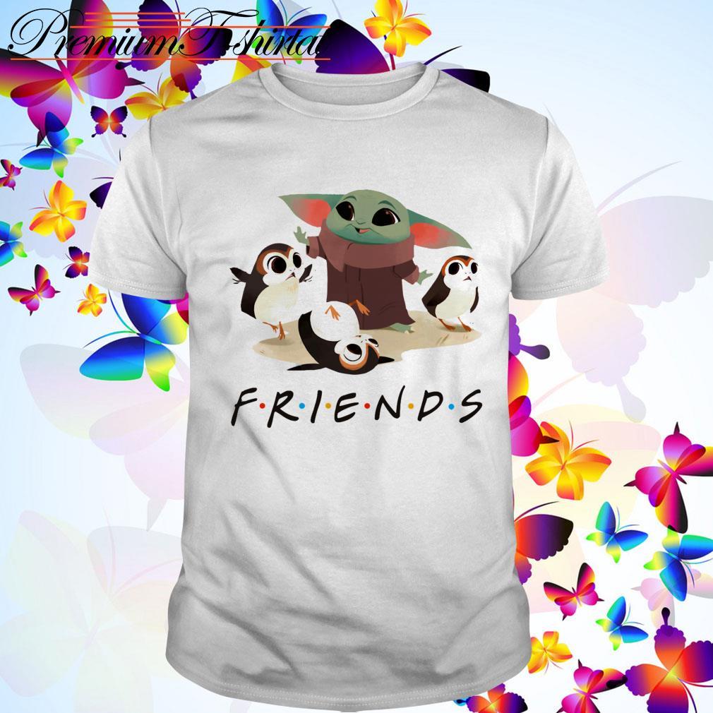 Baby Yoda and Sad Porg Friends TV show shirt