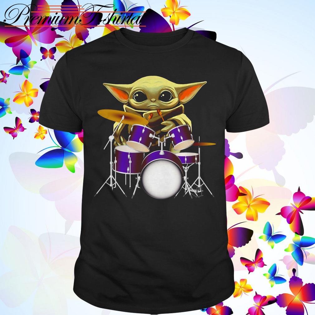 Baby yoda play drum shirt