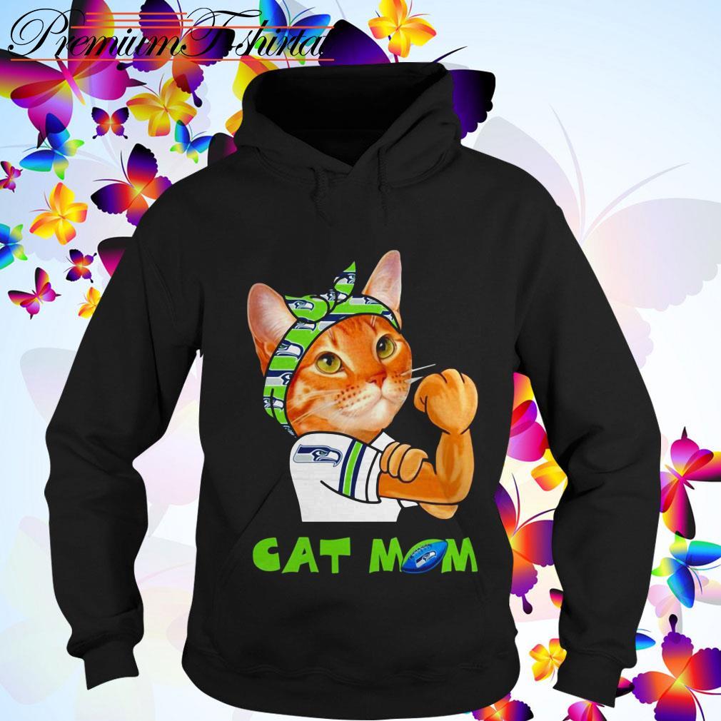 Cat mom Seattle Seahawks Hoodie