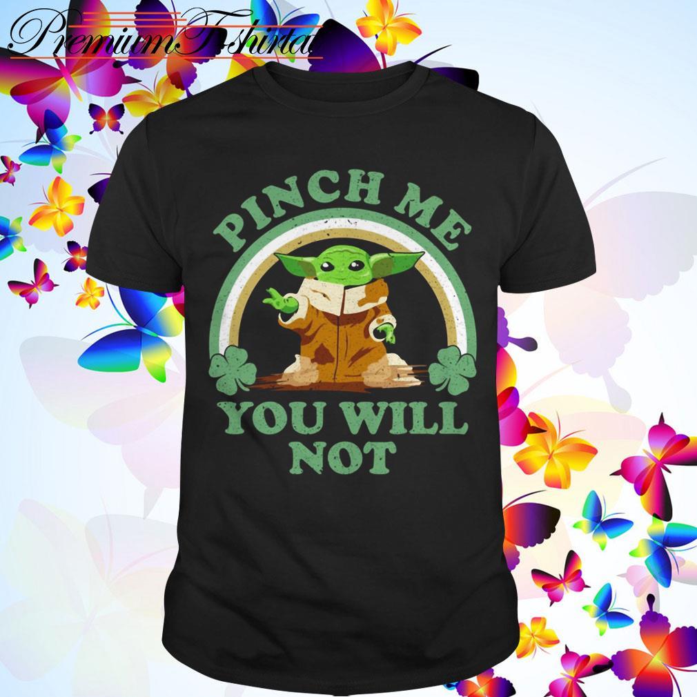 Clickbuypro Unisex Tshirt St Patricks Day Baby Yoda Pinch Me You Will Not Shirt Hoodie Navy S