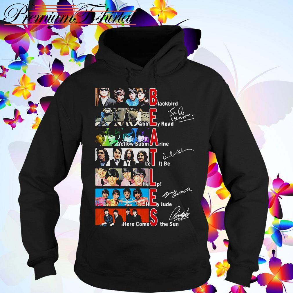 Beatles Blackbird Abbey Road Yellow Submarine Let It Be signatures Hoodie