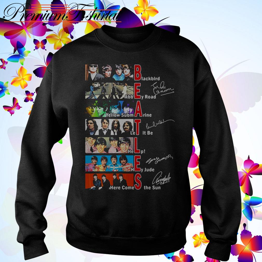 Beatles Blackbird Abbey Road Yellow Submarine Let It Be signatures Sweater