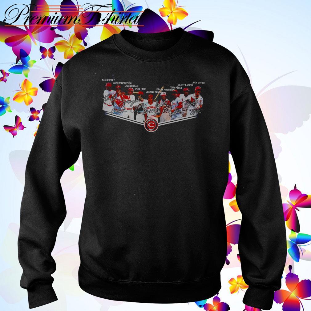 Cincinnati Reds team signatures Sweater