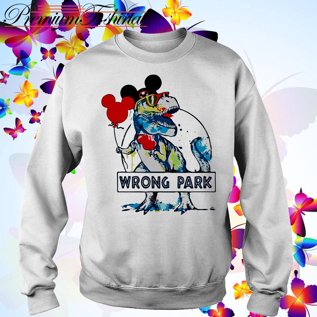 Dinosaur T-rex mashup Mickey mouse wrong park Sweater