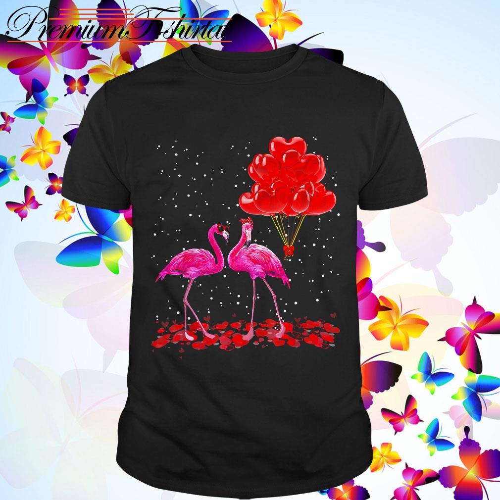 Clickbuypro Unisex T-shirt Flamingos Red Balloon Valentines Day Shirt Sweater Red Xl