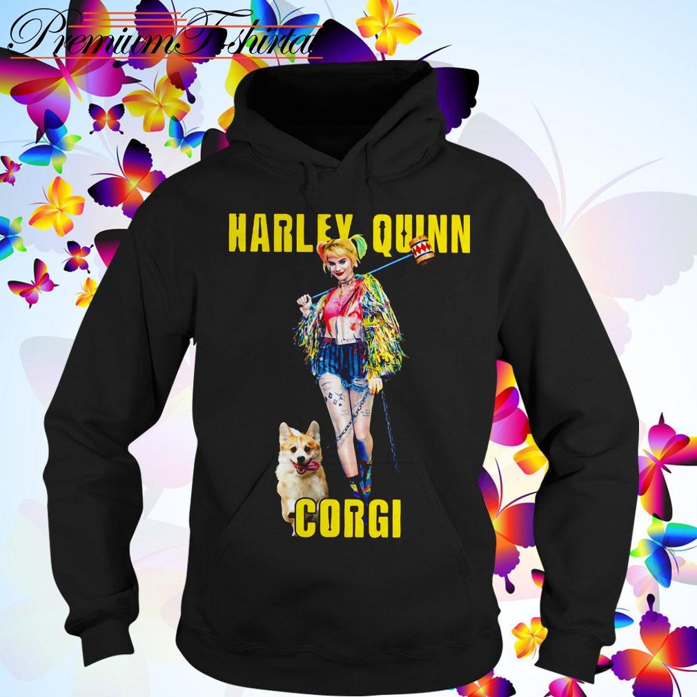 Harley Quinn Corgi dog Hoodie