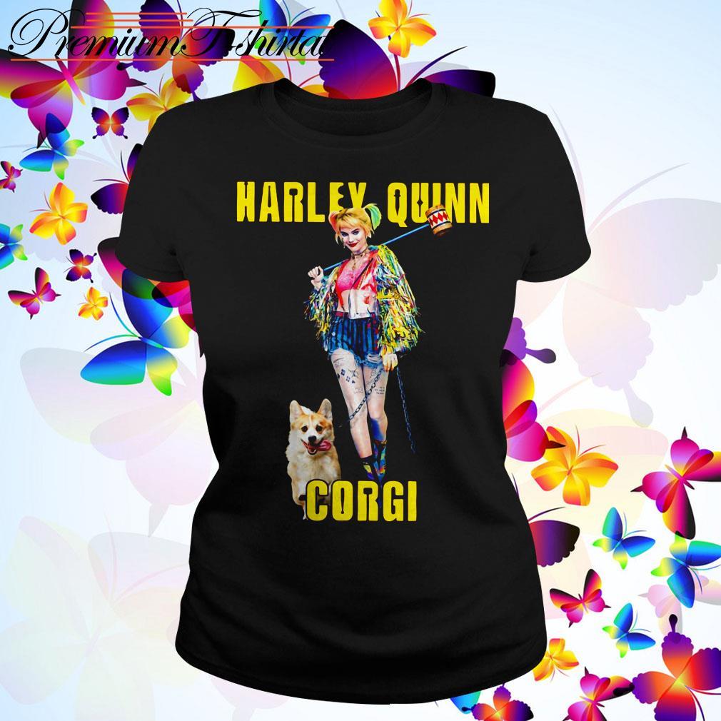Harley Quinn Corgi dog Ladies Tee