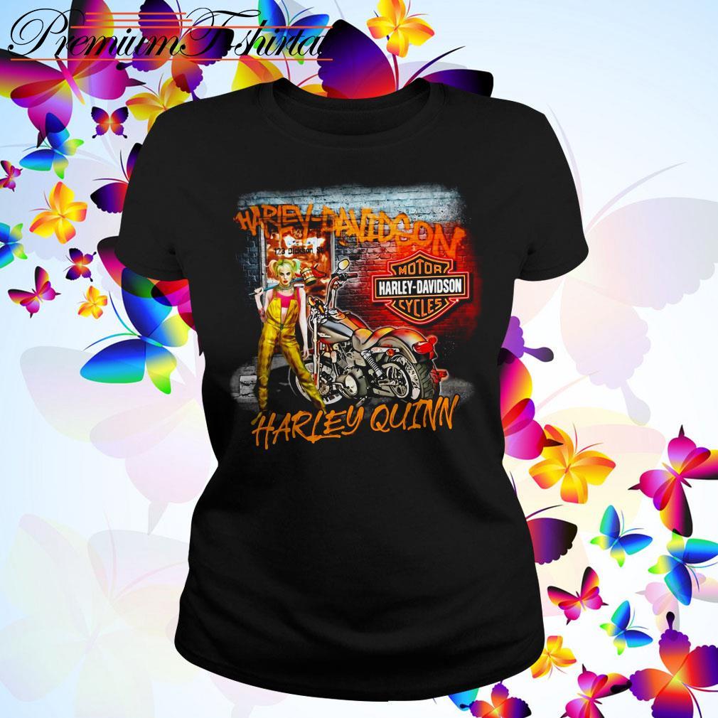 Harley Quinn Harley Davidson motorcycles Ladies Tee