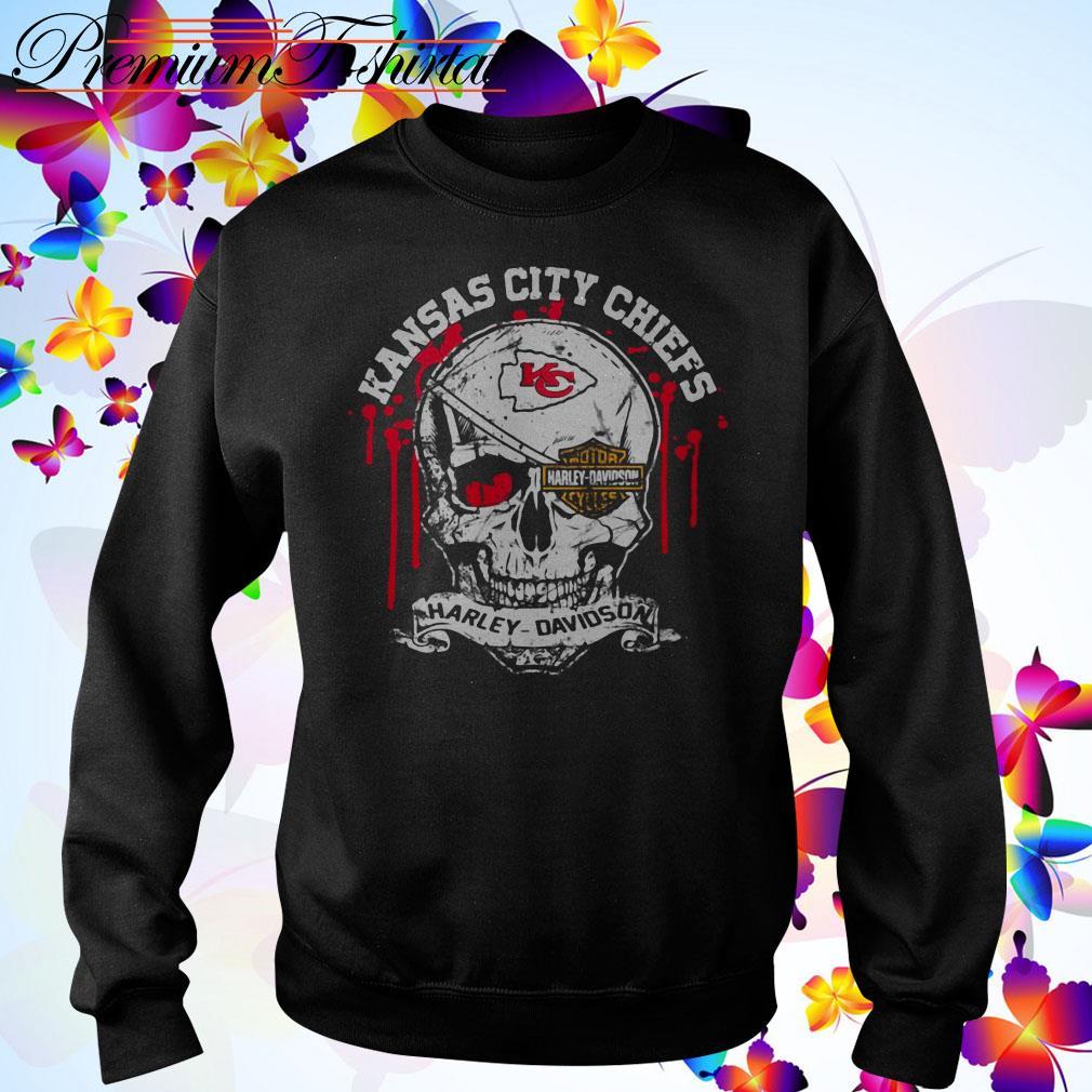 Kansas City Chiefs Motor Harley Davidson Cycles Skull Sweater