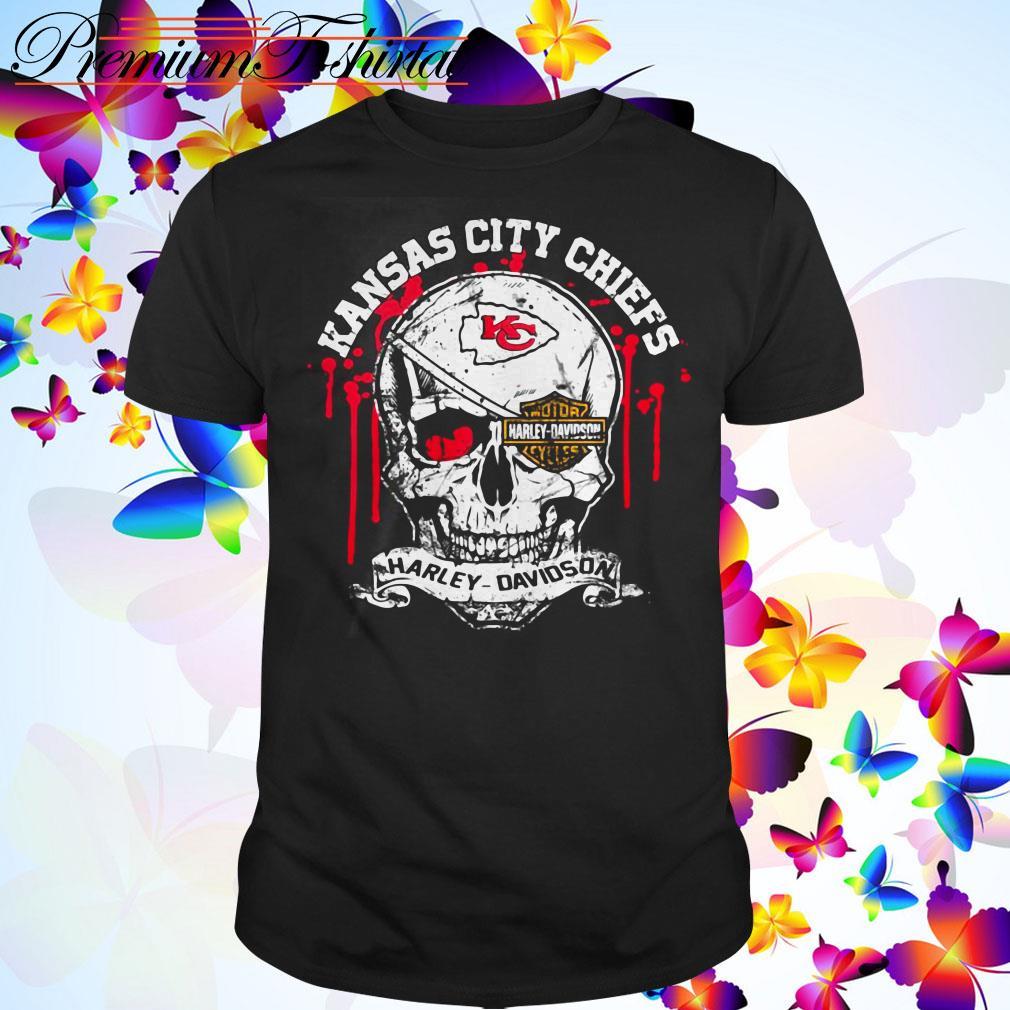 Kansas City Chiefs Motor Harley Davidson Cycles Skull shirt
