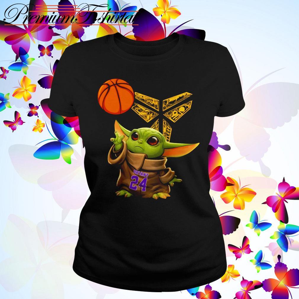 Kobe Bryant Baby Yoda Black Mamba Basketball Ladies Tee