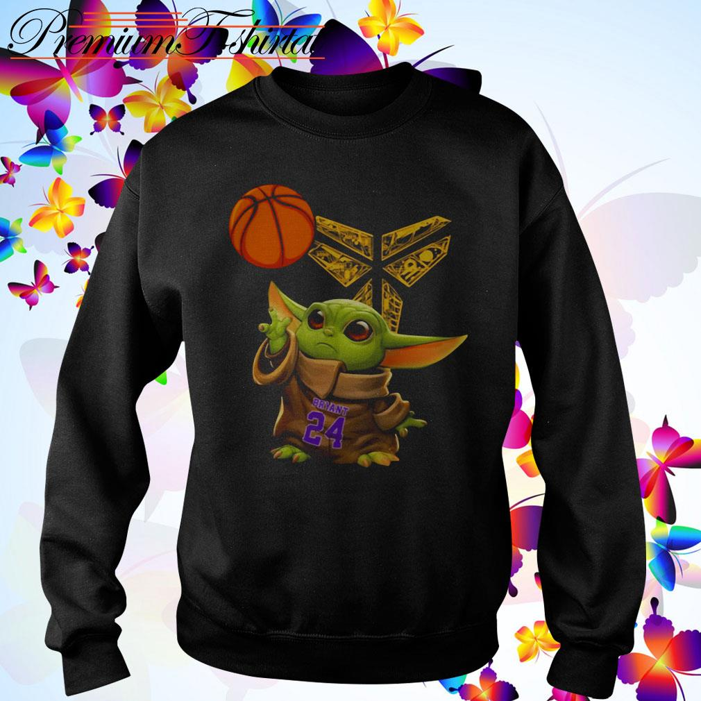 Kobe Bryant Baby Yoda Black Mamba Basketball Sweater