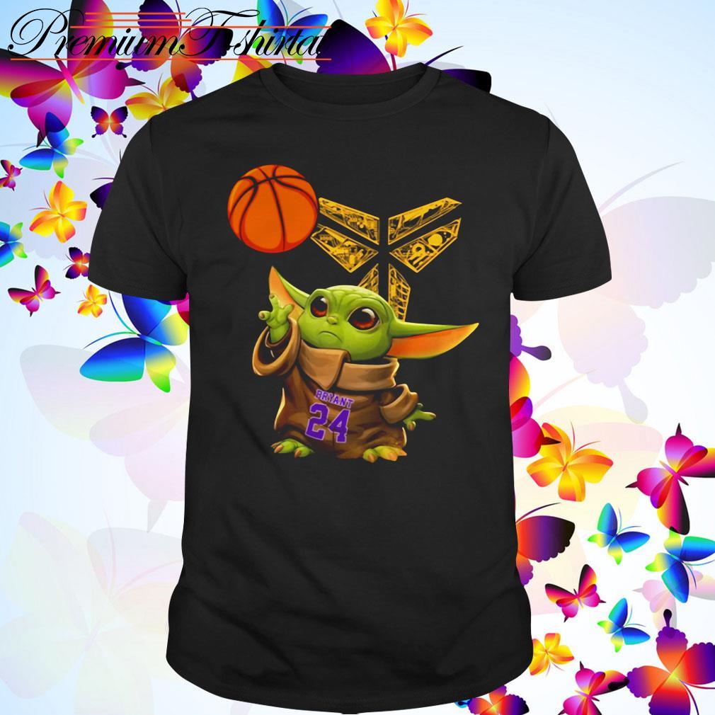 Kobe Bryant Baby Yoda Black Mamba Basketball shirt