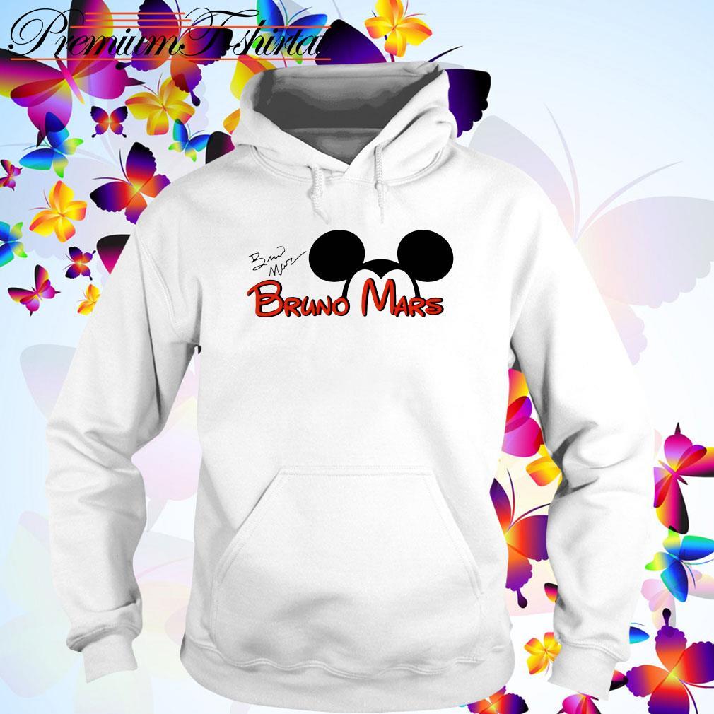 Mickey Mouse Bruno Mars signature Hoodie