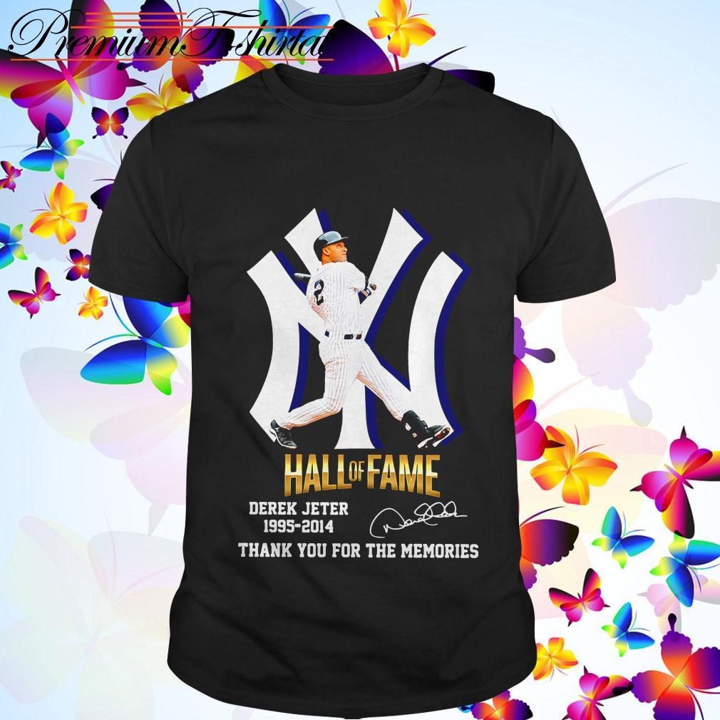 New York Yankees hall of fame Derek Jeter 1995-2014 thank you for the memories shirt