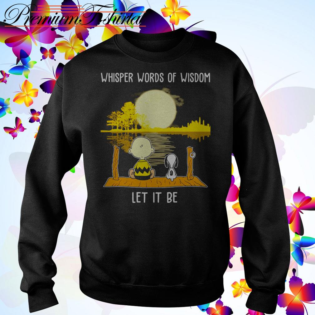 Snoopy and Charlie Brown Whisper Words of Wisdom let it be Sweater