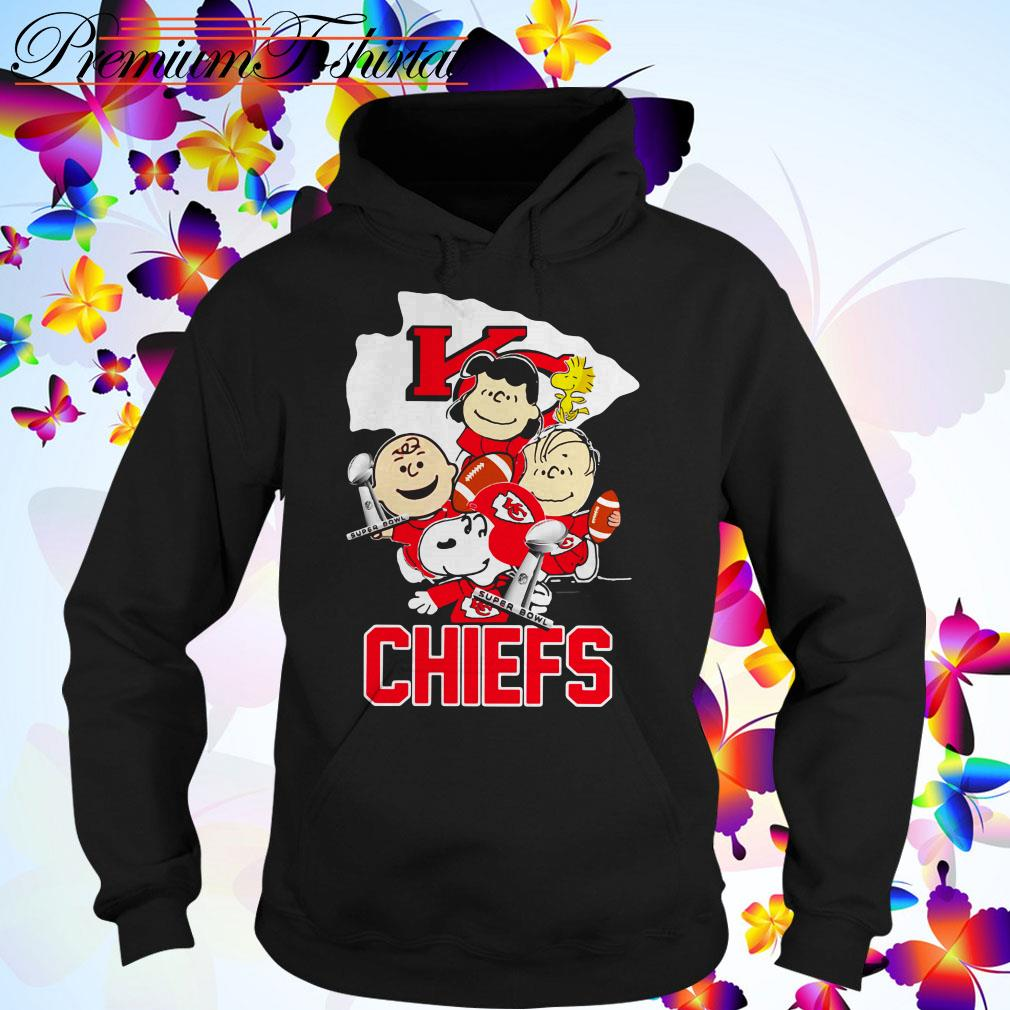 Snoopy with Friends Kansas City Chiefs Super Bowl NFL Hoodie