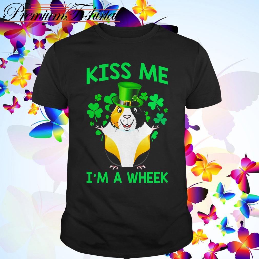 St Patrick's day Guinea pig kiss me I'm a wheek shirt