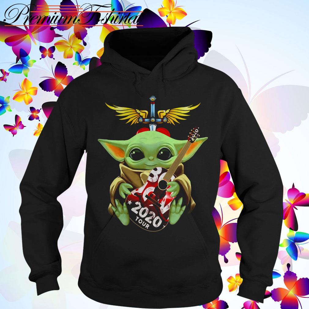 Star Wars Baby Yoda hug Bon Jovi 2020 tour Hoodie