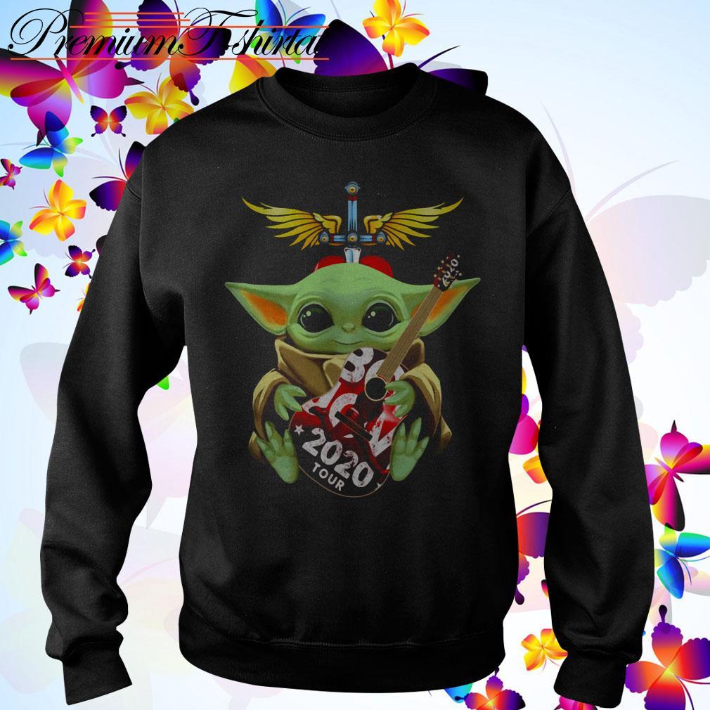 Star Wars Baby Yoda hug Bon Jovi 2020 tour Sweater