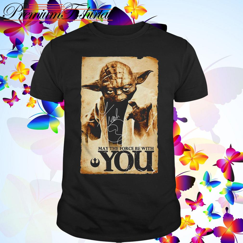 Star Wars Yoda May the force be with you shirt