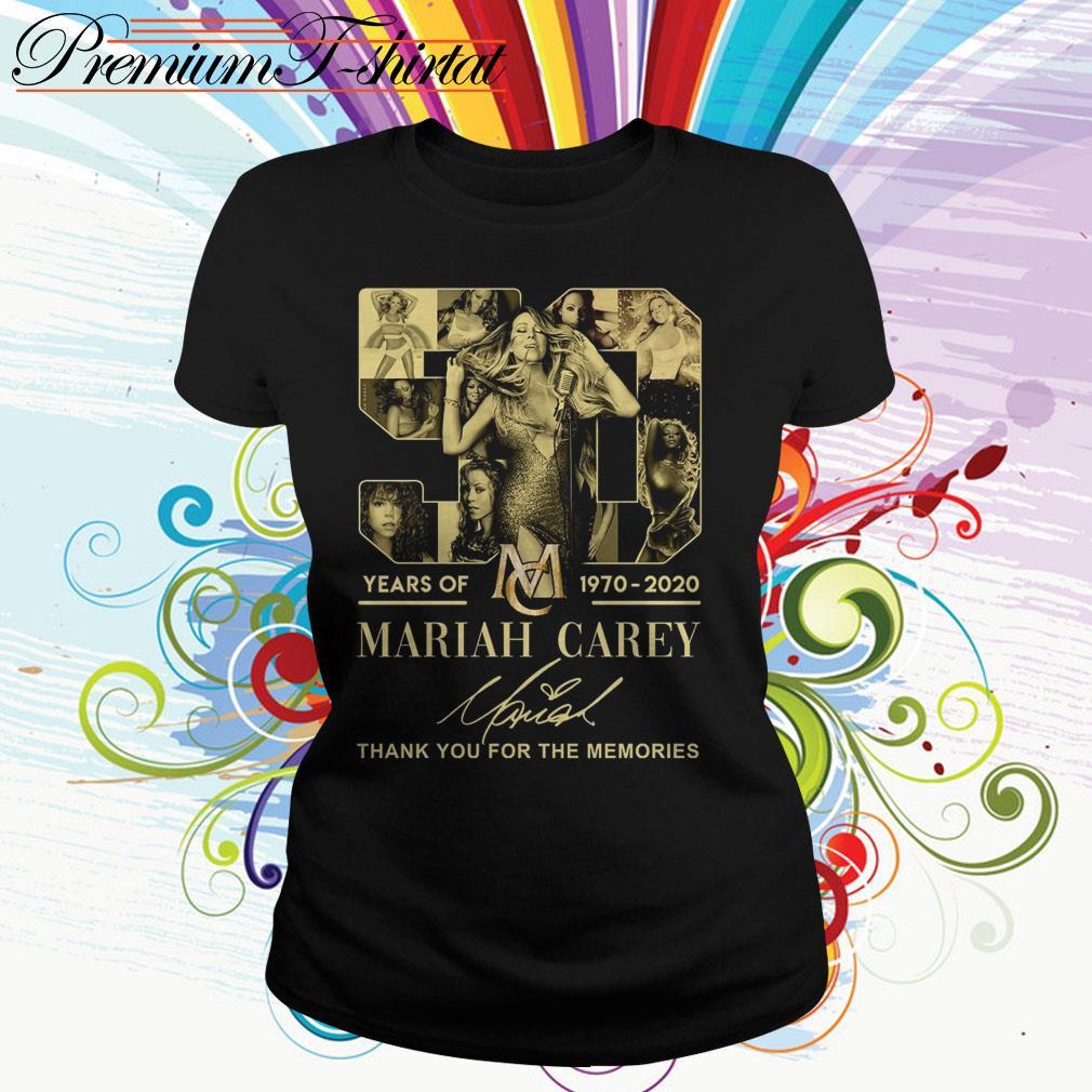 50 Years of Mariah Carey 1970 2020 thank you for the memories Ladies Tee