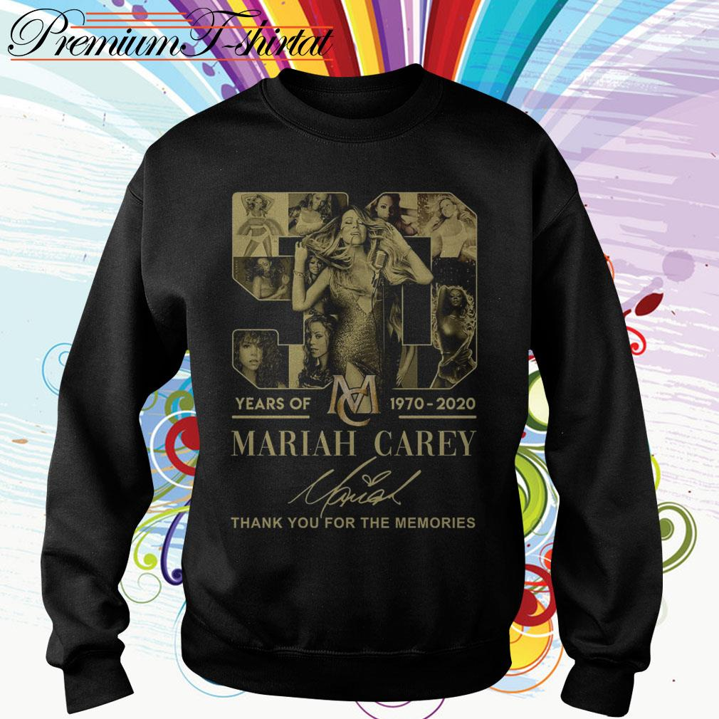 50 Years of Mariah Carey 1970 2020 thank you for the memories Sweater