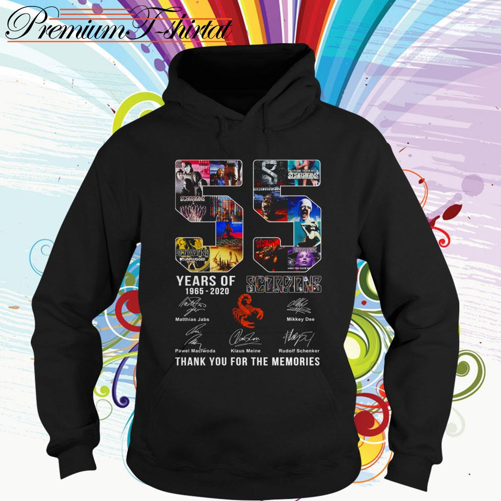 55 Years of Scorpions 1965 2020 thank you for the memories Hoodie
