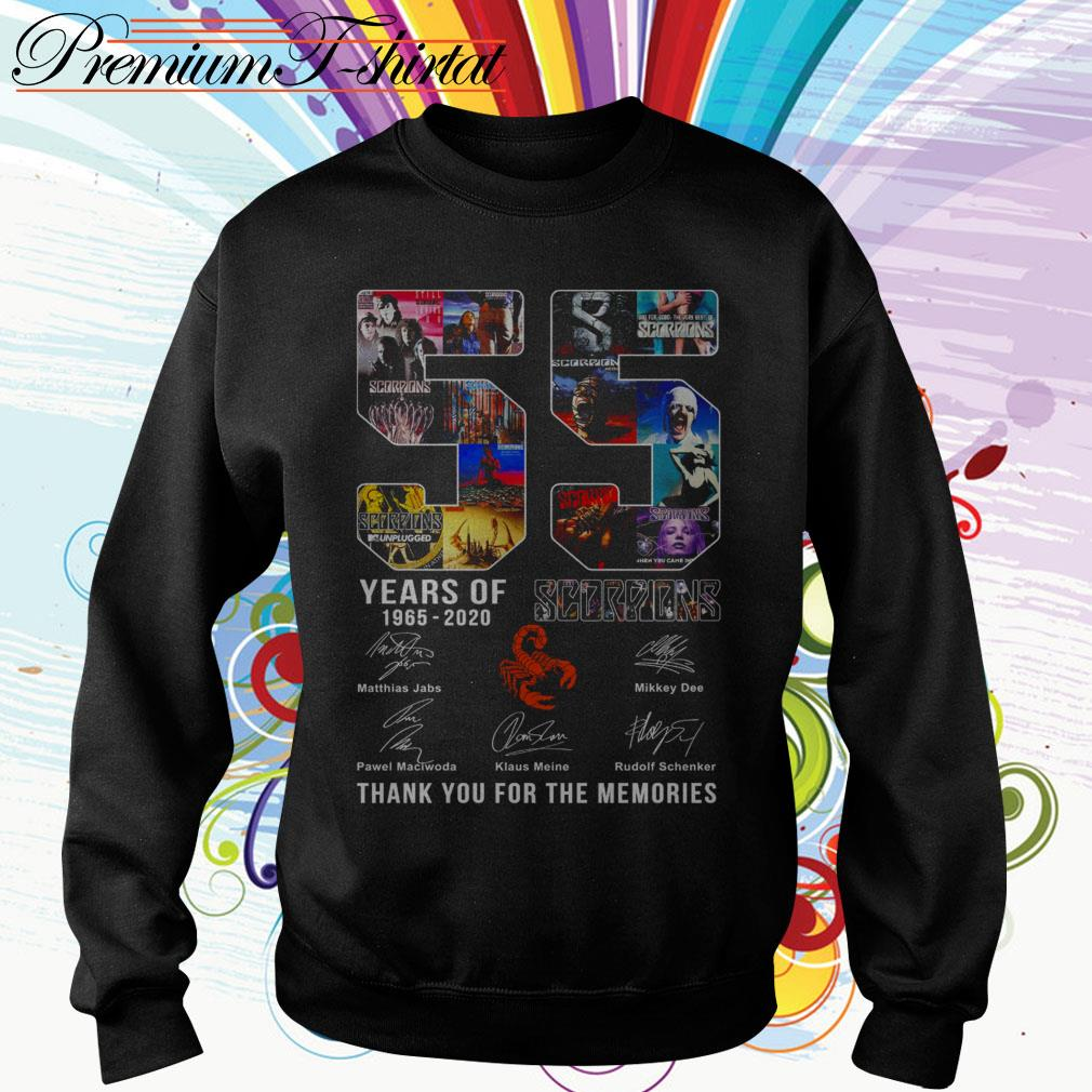 55 Years of Scorpions 1965 2020 thank you for the memories Sweater