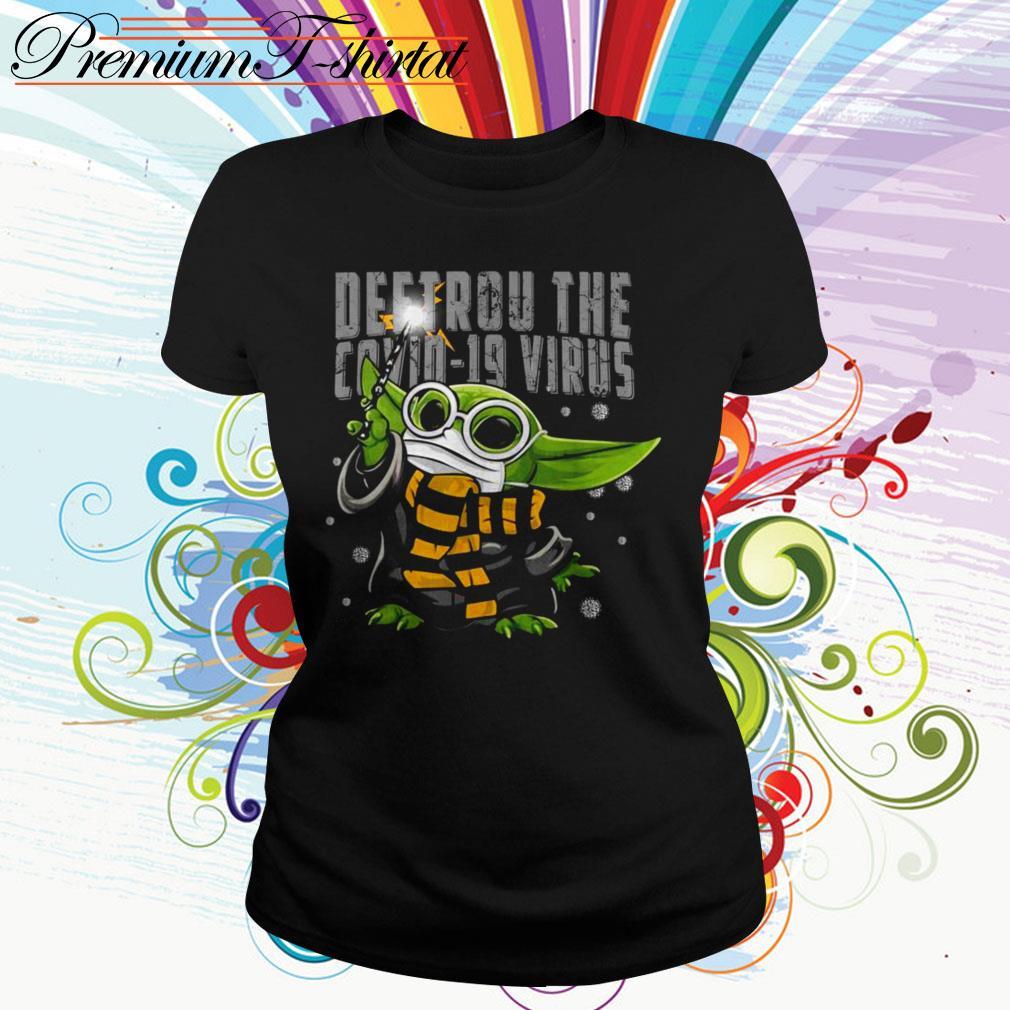 Baby Yoda Destroy the Covid-19 Virus Corona Ladies Tee